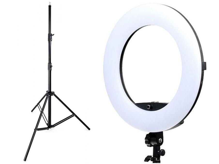 Lampa pierścieniowa LED RING 3200-5500K ŚCIEMNIACZ 96W