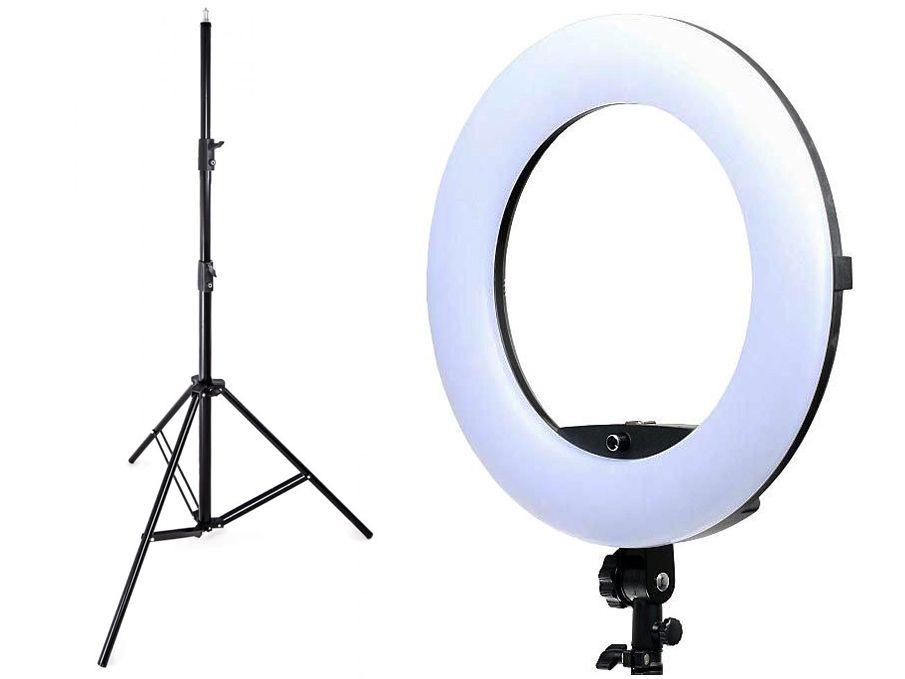 Lampa pierścieniowa LED RING 5500K ŚCIEMNIACZ 96W