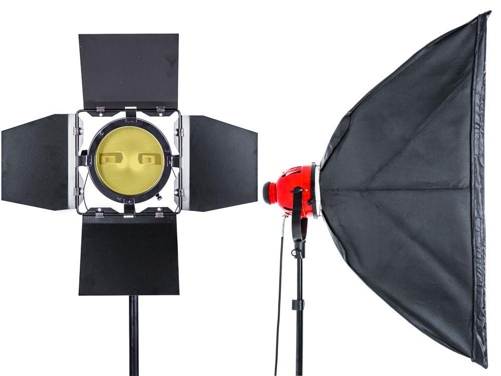 Halogenowy zestaw oświetleniowy 4x800W Red Head z dimmerem