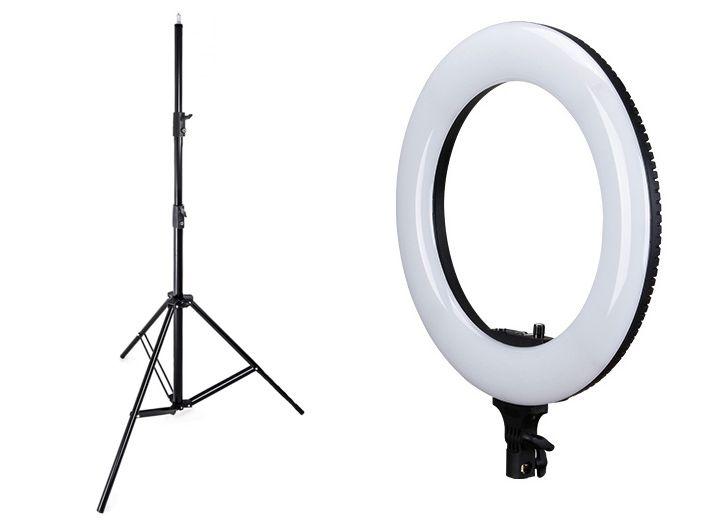 Lampa pierścieniowa LED RING 48W ŚCIEMNIACZ
