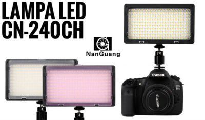 LAMPA DO KAMERY VIDEO CN-240 CH LED