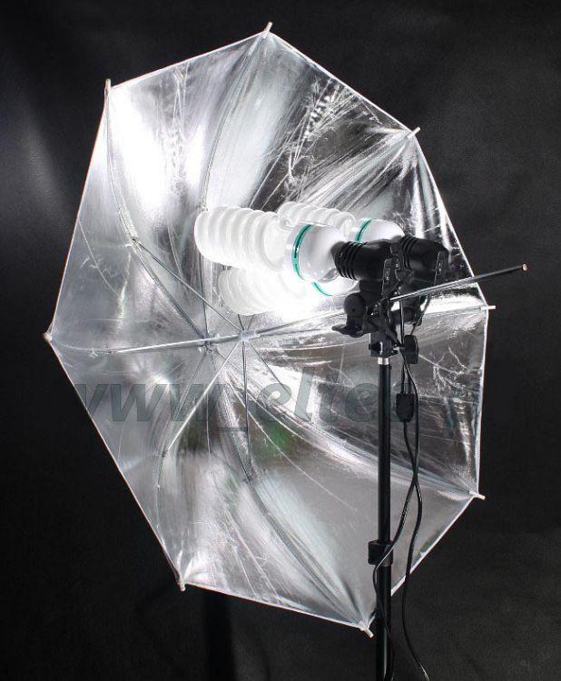 Zestaw oświetleniowy 3x400W parasol srebrny 230cm Z118