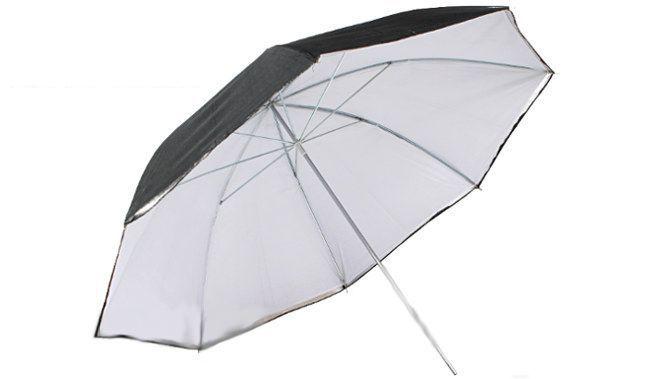 Zestaw oświetleniowy 3x400W parasol czarno-biały 230cm Z119