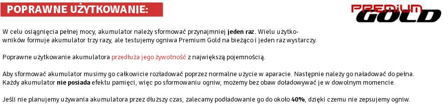 Akumulatory Premium GOLD