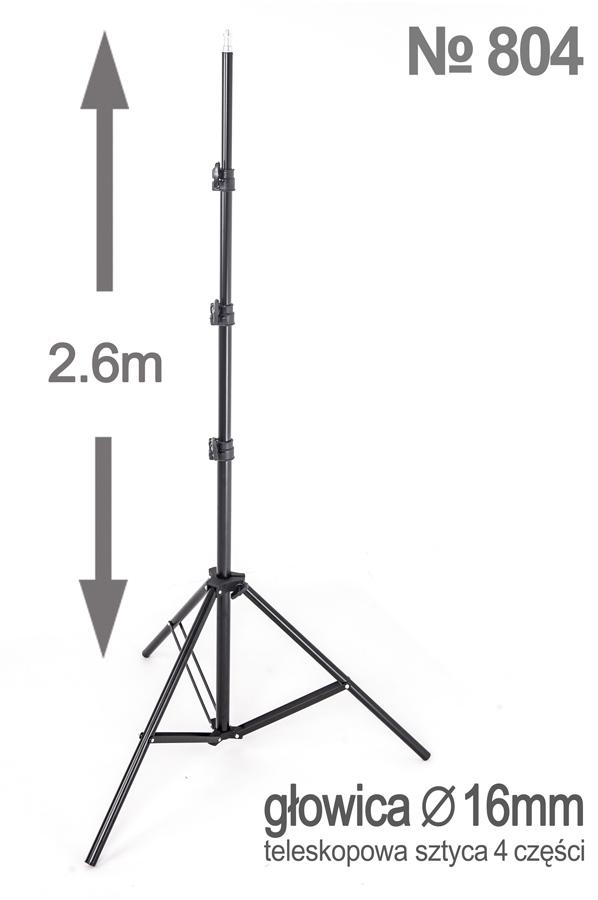 Statyw do lampy typu SOFTBOX octa 70cm, 4 żarówki x85W, statyw 260cm