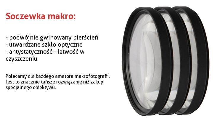 Soczewka makro +8 dioptrii 52mm  CLOSE UP GREEN.L
