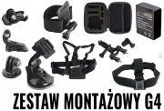 ZESTAW AKCESORIÓW G4 do Sony Action Cam, GoPro Hero 2, 3, 3+, 4, 5, 6, 7 + AKUMULATOR AHDBT-301