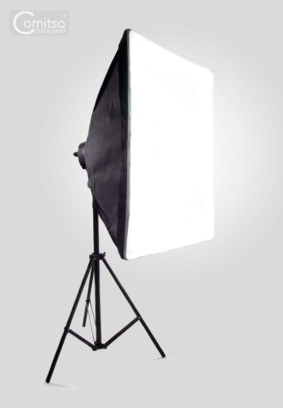 Lampa Softbox światła Ciągłego Typu Quadhead 50x70cm 4x85w 230cm
