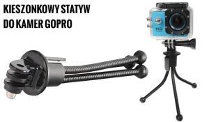 Kieszonkowy statyw MINI FLEXIPOD, model s010 z adapterem do GoPro HERO 1, 2, 3, 3+, 4, 5, 6, 7